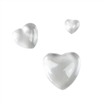 Clear Glass Cabochon - Heart