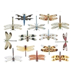 Enamel, Ceramic & Glass Decals - Colorful Dragonflies