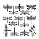 Enamel, Ceramic & Glass Decals - Dragonflies