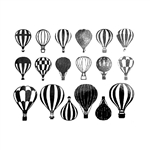 Enamel, Ceramic & Glass Decals - Hot Air Balloon