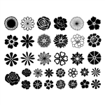 Enamel, Ceramic & Glass Decals - Small Flowers