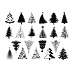 Enamel, Ceramic & Glass Decals - Christmas Tree