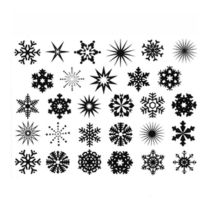 Enamel, Ceramic & Glass Decals - Small Snowflake