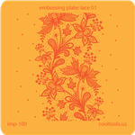 Jewelry Embossing Plate - Lace 01