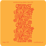 Jewelry Embossing Plate - Lace 02