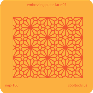 Jewelry Embossing Plate - Lace 07