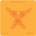 Jewelry Embossing Plate - Lace 08