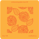 Jewelry Embossing Plate - Lace 09