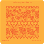 Jewelry Embossing Plate - Lace 10