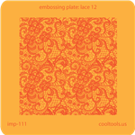 Jewelry Embossing Plate - Lace 12