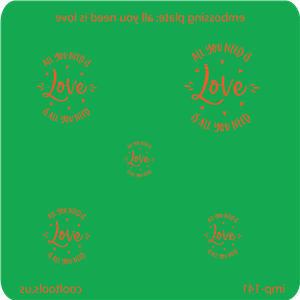 Jewelry Embossing Plate - All You Need is Love