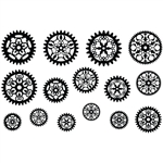 Jewel Stamps - Filigree Gears 1