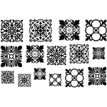 Jewel Stamps - Filigree Squares 1