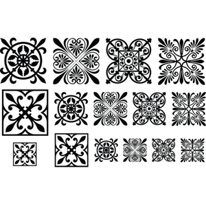 Jewel Stamps - Filigree Squares 2