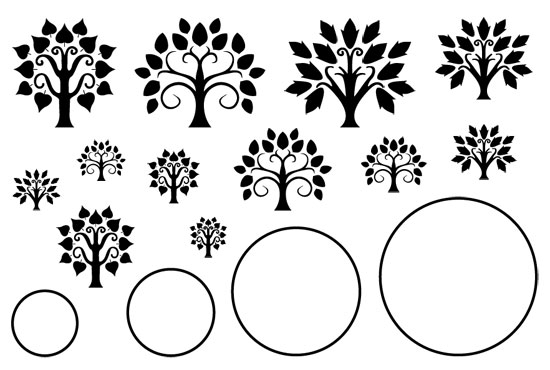 jewel stamps tree of life circle cool tools