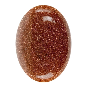 Goldstone Gemstone - Cabochon Oval 22mm x 30mm Pkg - 1