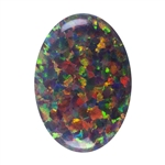 Imitation Red Opal Gemstone - Cabochon Oval 10mm x 14mm Pkg - 1