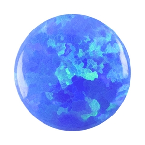 Imitation Peacock Opal Gemstone - Cabochon Round 6mm Pkg - 2