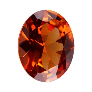 Lab Gemstone - Corundum Citrine - Oval