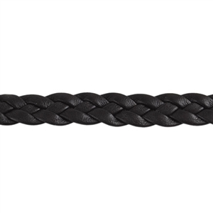Leather Braid 10mm - Dark Brown - 6""