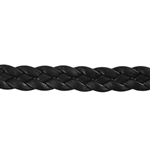 Leather Braid 10mm - Black - 6""
