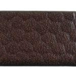 Reptile Textured Leather - 10mm Chocolate Brown - 6""