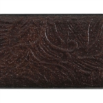 Floral Waterfall Textured Leather - 6""