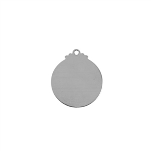 Sterling Silver Shape - Round Pendant - 17mm x 19mm Pkg - 2