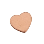 "Copper Shape - Heart - 1/2"" Pkg - 6"