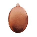 Copper Plate Shape - Oval Pendant - 22mm x 30mm Pkg - 4