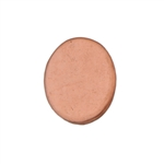 "Copper Shape - Oval - 3/4"" Pkg - 6"