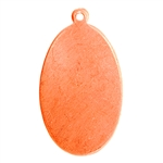"Copper Shape - Oval Pendant - 5/8"" x 1-1/8"" Pkg - 6"