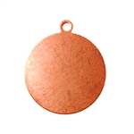 "Copper Shape - Round Drop - 3/4"" Pkg - 6"