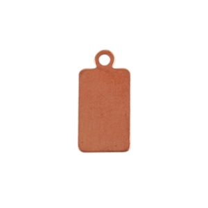 Copper Shape - Rectangle with Ring 24 gauge Pkg - 10
