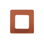 Copper Shape - Square Washer 24 gauge Pkg - 10