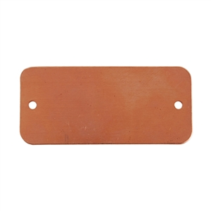 Copper Shape - Rectangle with Holes - 20 x 44mm