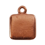 Copper Plate Shape - Square Pendant - 9mm