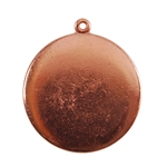 Copper Plate Shape - Round Connector - 25mm