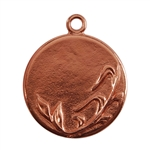 Copper Plate Shape - Spring Round Pendant - 25mm