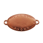Copper Plate Shape - Oval Connector - 28.5mm x 17.5mm