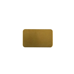 Brass Blank - Rectangle - 14mm x 23mm Pkg - 10