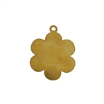Brass Blank - Flower Pendant - 25mm x 30.5mm Pkg - 6