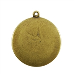 Antique Brass Plate Blank - Round Pendant - 25mm Pkg - 2