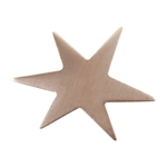 "Copper Shape - Funky Star - 1-1/8"" Pkg - 6"
