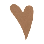"Copper Shape - Funky Heart - 1-1/2"" x 1""  Pkg - 6"