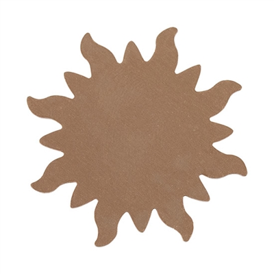"Copper Shape - Sunburst - 1-1/4""  Pkg - 6"