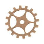 "Copper Shape - Gear with Spokes - 3/4""  Pkg - 6"