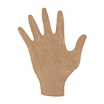 "Copper Shape - Hand - 3/4"" x 7/8""  Pkg - 6"