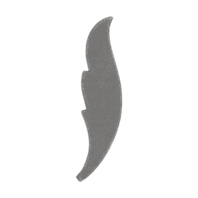 "Nickel Silver Blank - Feather - 1""  Pkg - 6"