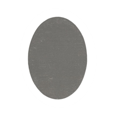 Nickel Silver Blank - Oval - 25mm x 18mm  Pkg - 6